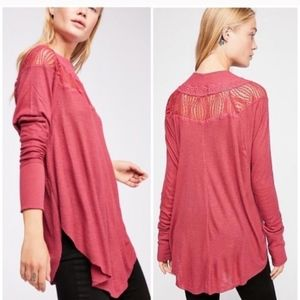 Free People Spring Valley Thermal Top Cochineal